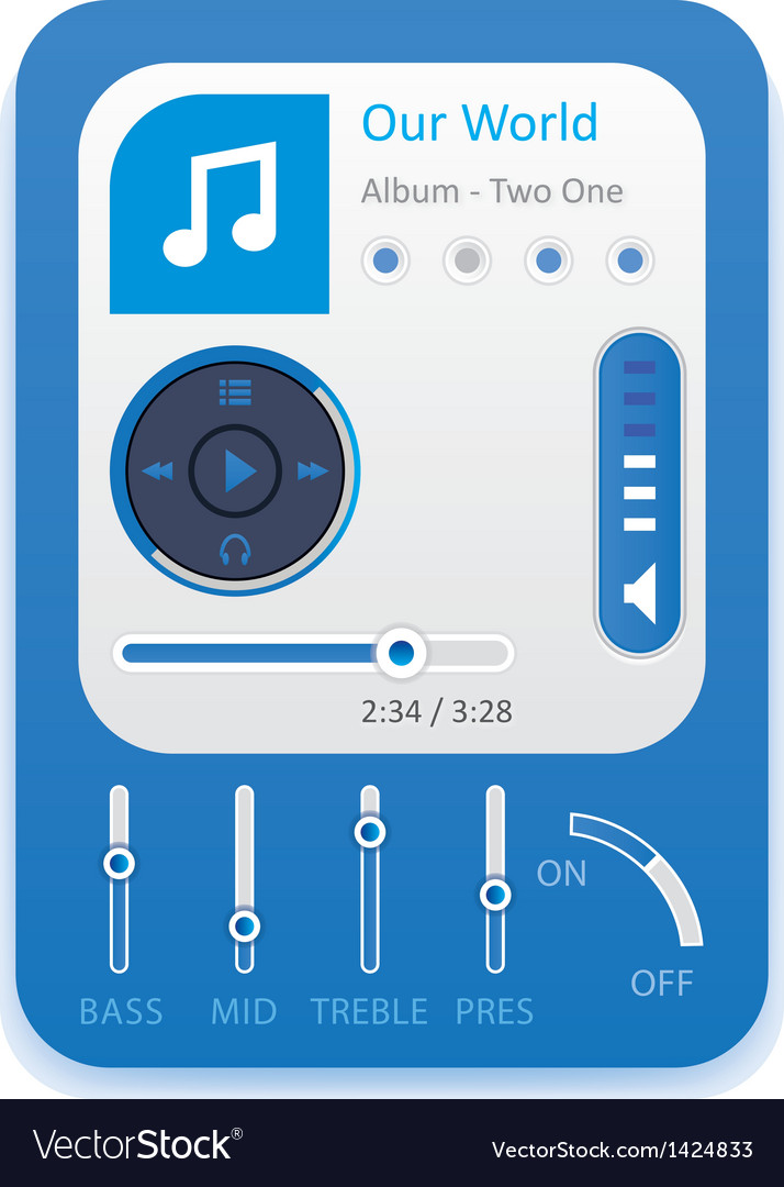 Music player 10 vector | Price: 1 Credit (USD $1)