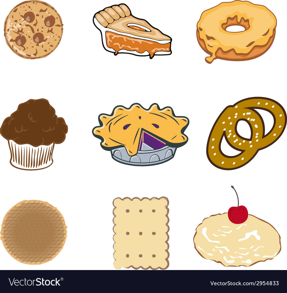 Pastry collection vector | Price: 1 Credit (USD $1)