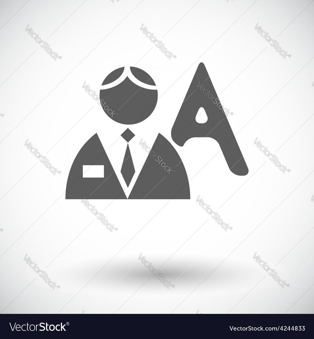 Person single flat icon vector | Price: 1 Credit (USD $1)