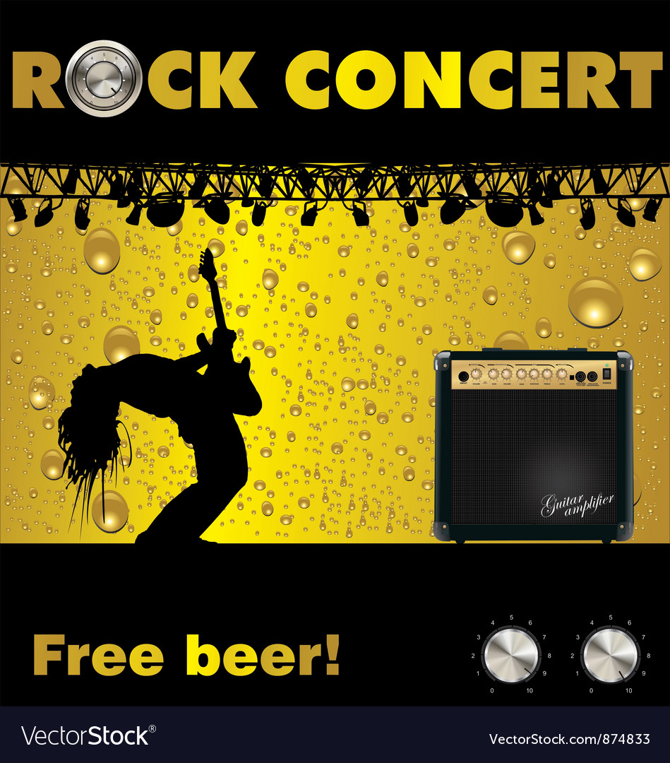 Rock concert free beer wallpaper vector | Price: 1 Credit (USD $1)