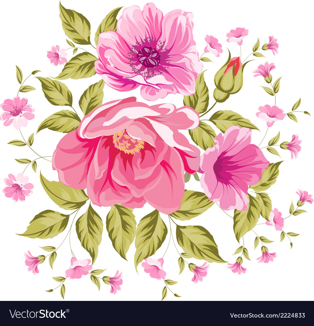 Roses floral bouquet vector | Price: 1 Credit (USD $1)