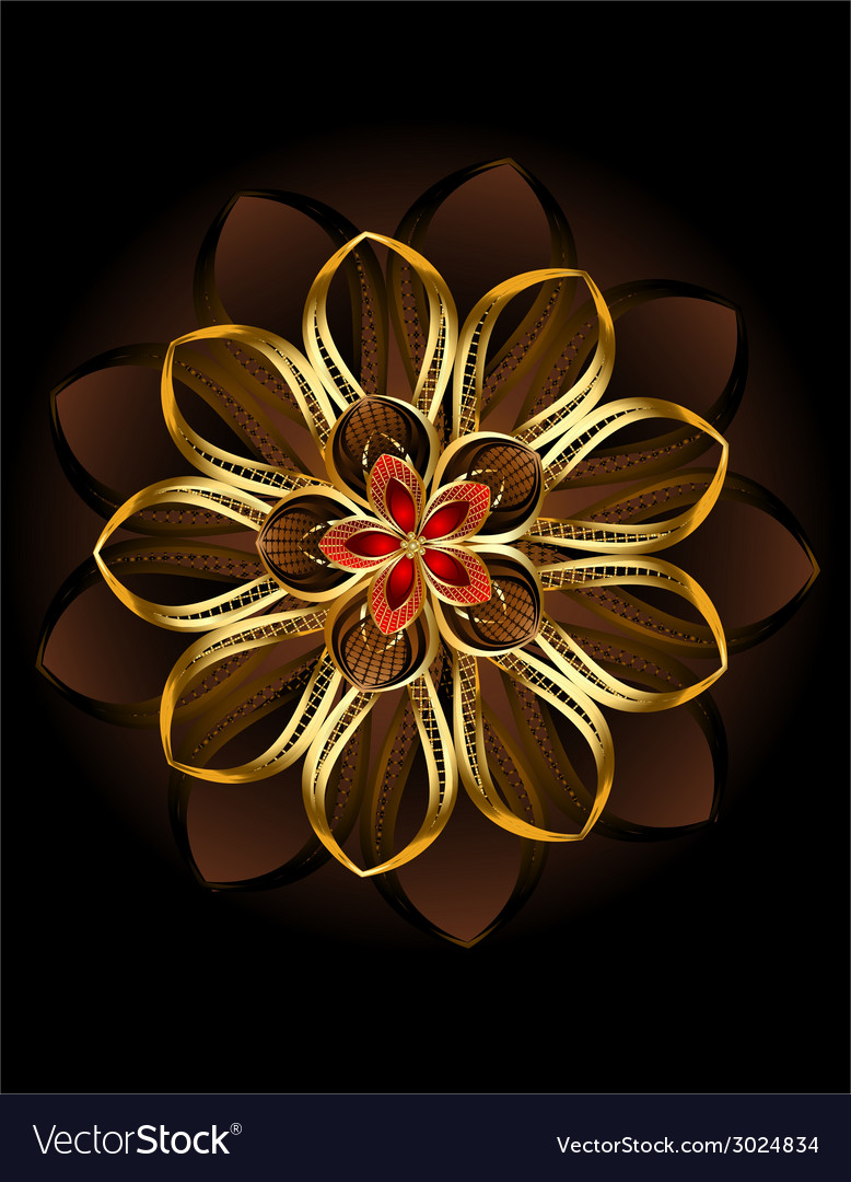 Abstract brown flower vector | Price: 1 Credit (USD $1)