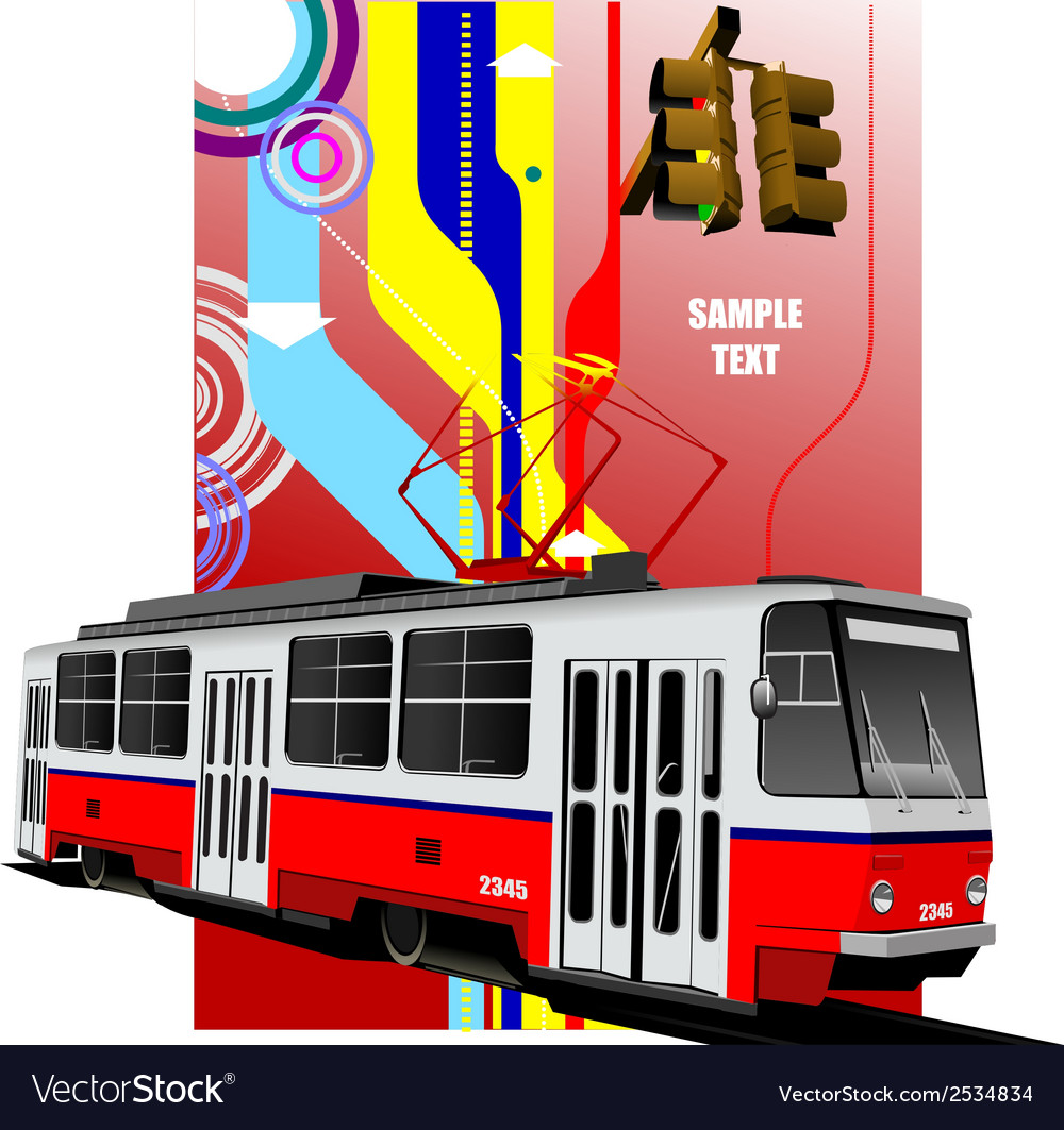 Al 0604 tram 02 vector | Price: 1 Credit (USD $1)