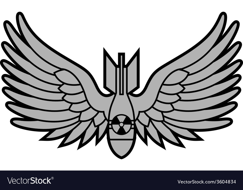 Atomic bomb with wings vector | Price: 1 Credit (USD $1)