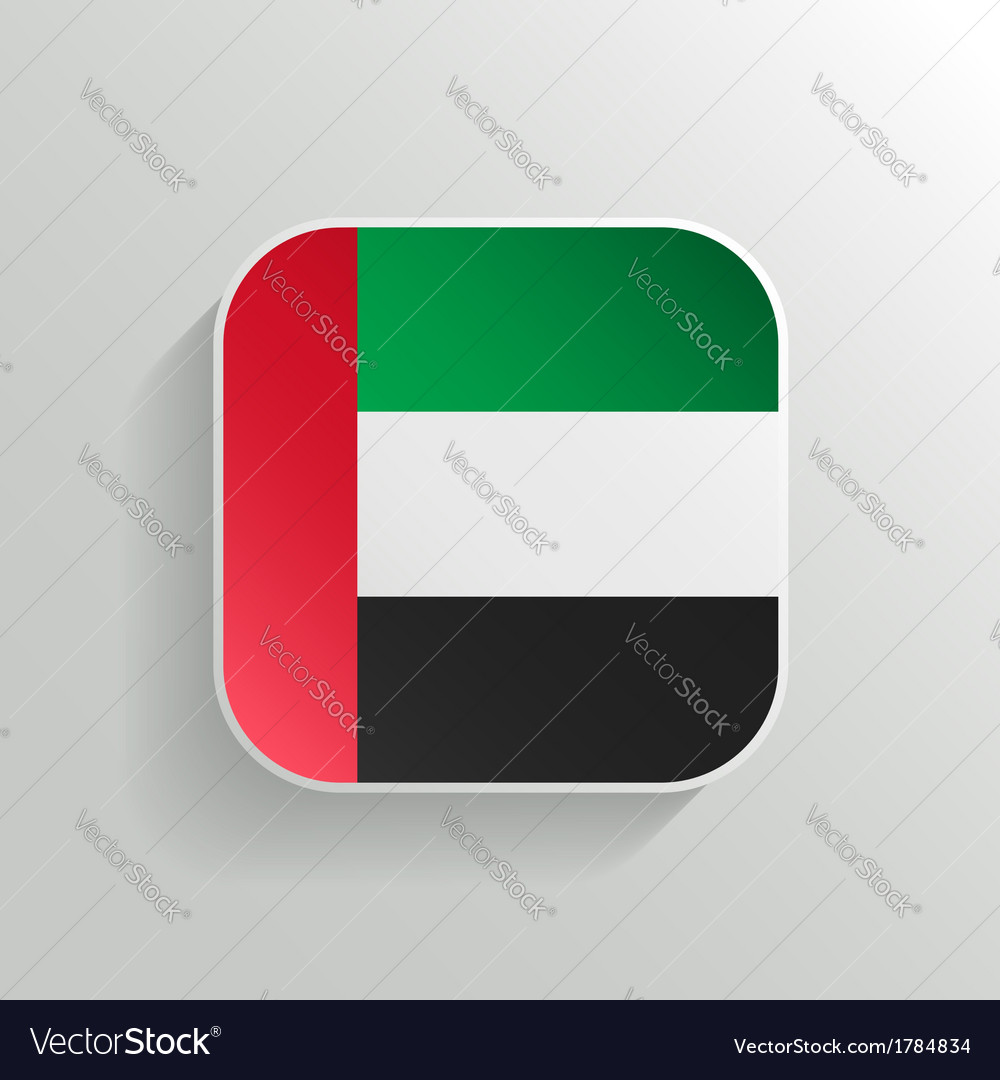 Button - united arab emirates flag icon vector | Price: 1 Credit (USD $1)