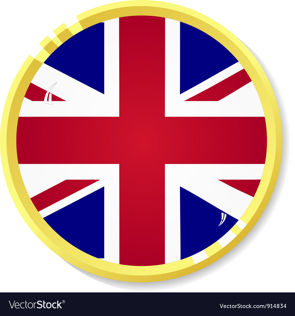 Button with flag united kingdom vector   Price: 1 Credit (USD $1)