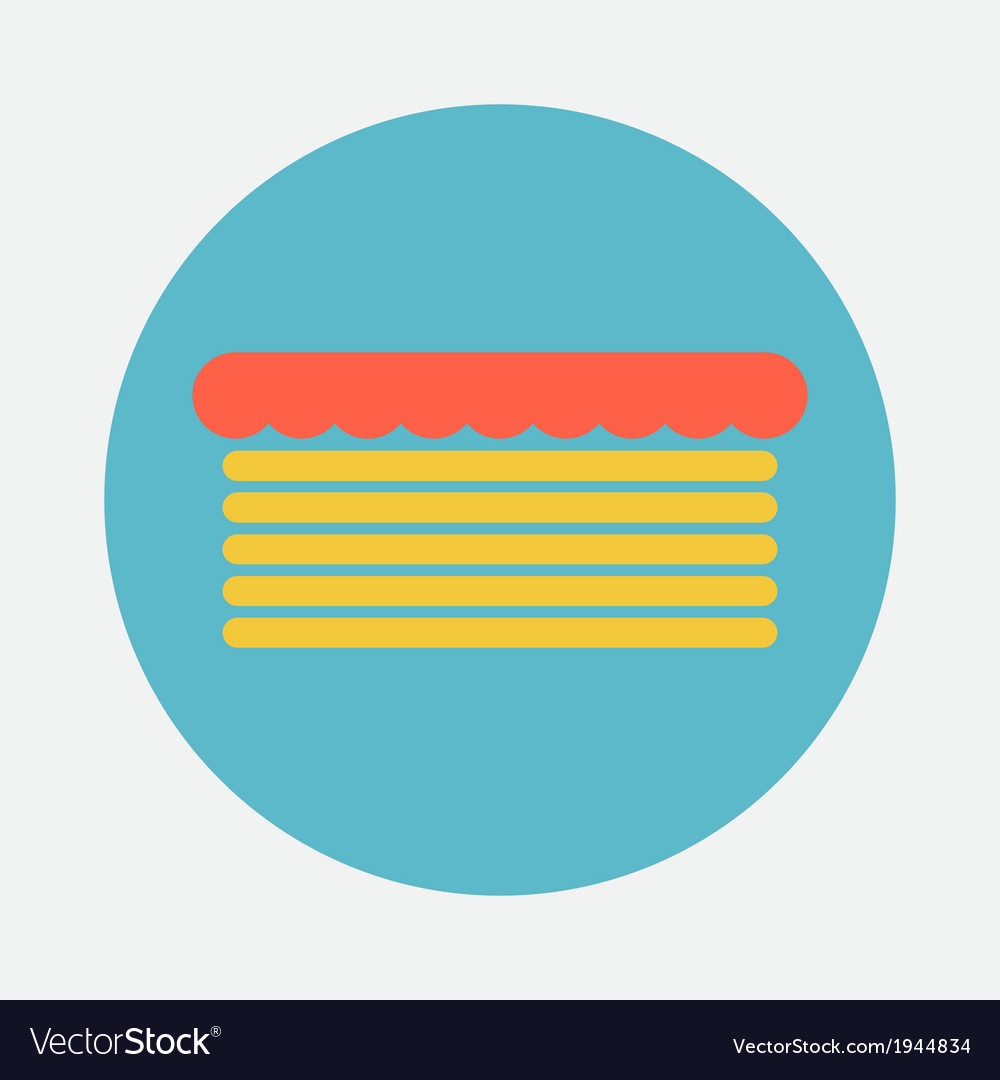 Cake icon vector | Price: 1 Credit (USD $1)