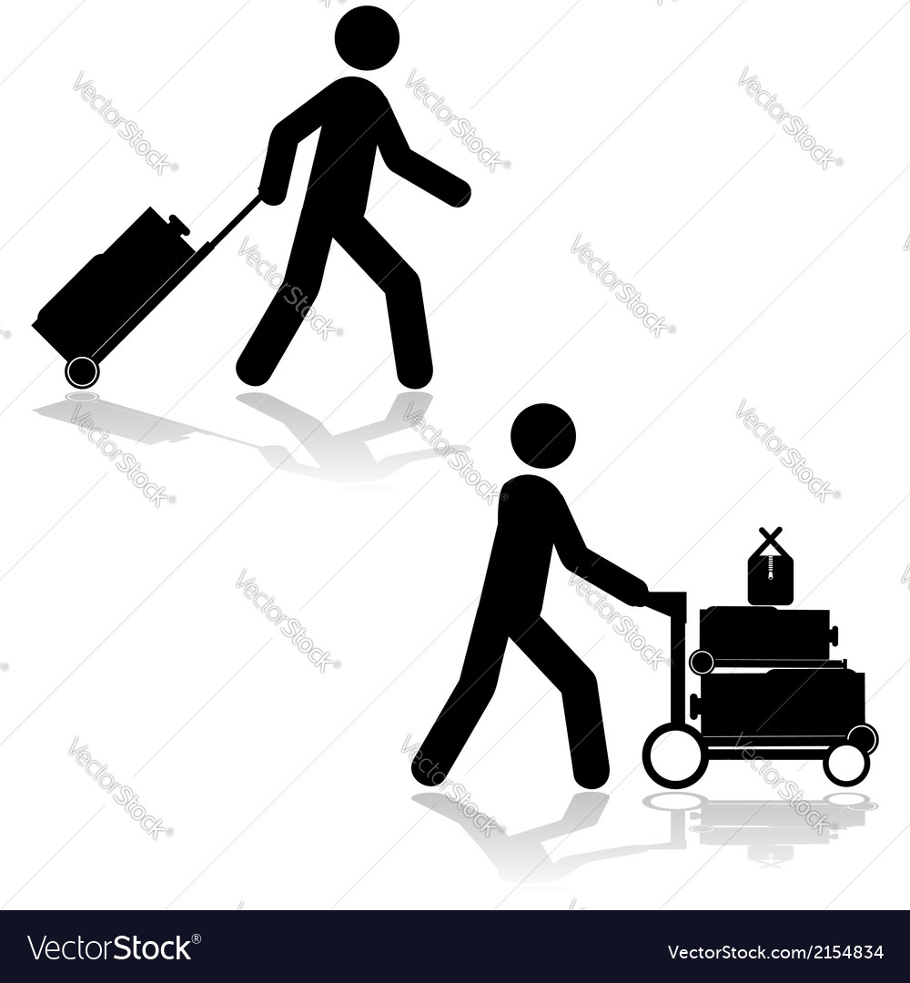 Carrying luggage vector | Price: 1 Credit (USD $1)
