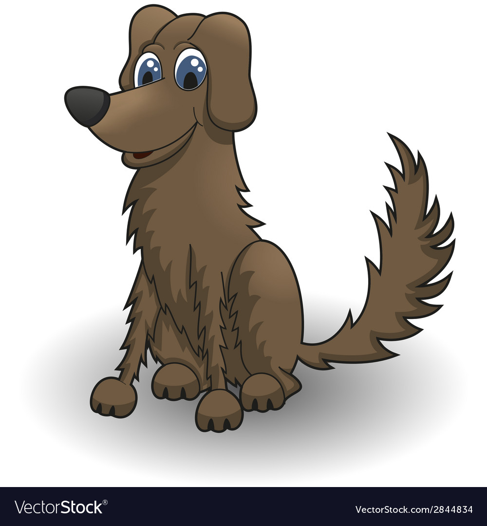 Cartoon dog vector | Price: 1 Credit (USD $1)