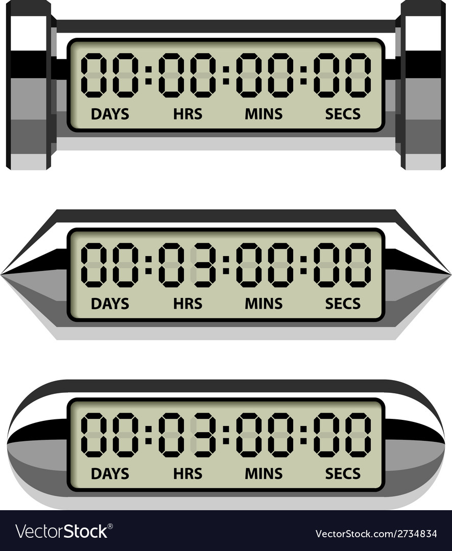 Chrome lcd counter - countdown timer vector | Price: 1 Credit (USD $1)