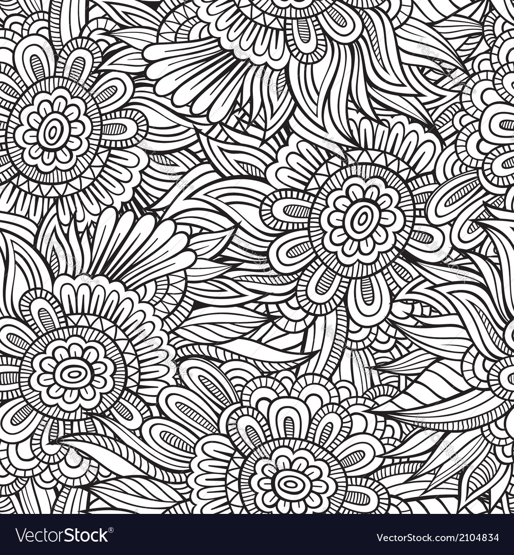 Decorative nature seamless pattern vector | Price: 1 Credit (USD $1)