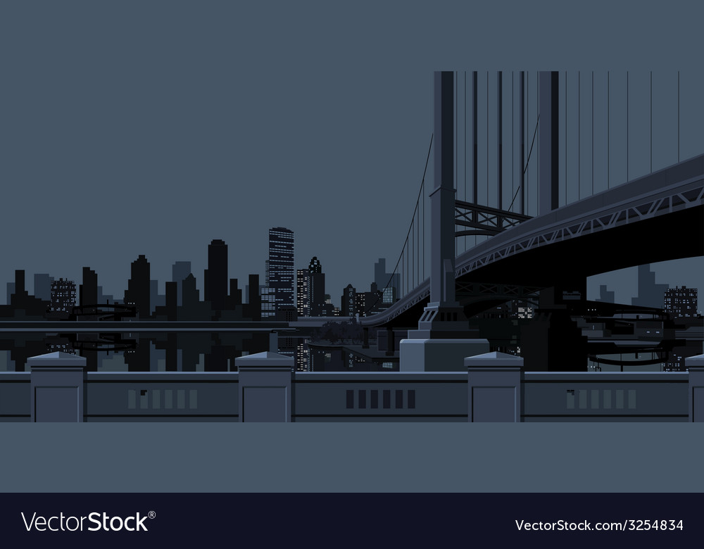 Gray background of the city with skyscrapers near vector | Price: 1 Credit (USD $1)