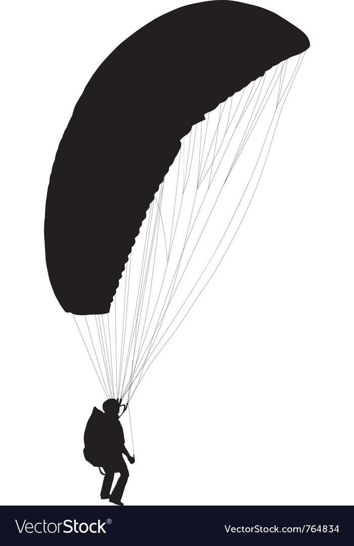 Paraglider before take off vector | Price: 1 Credit (USD $1)