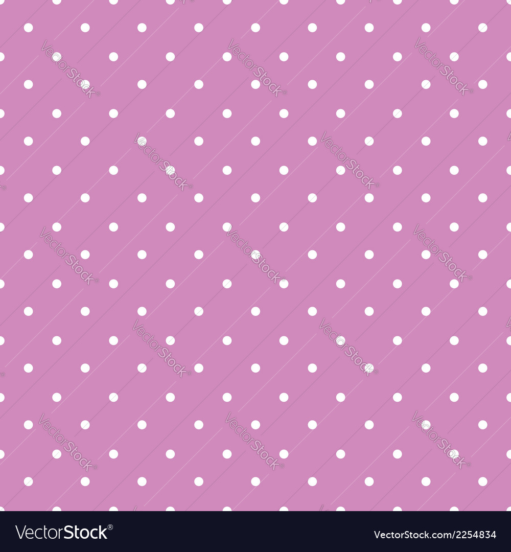 Pink background polka fabric with white little vector | Price: 1 Credit (USD $1)