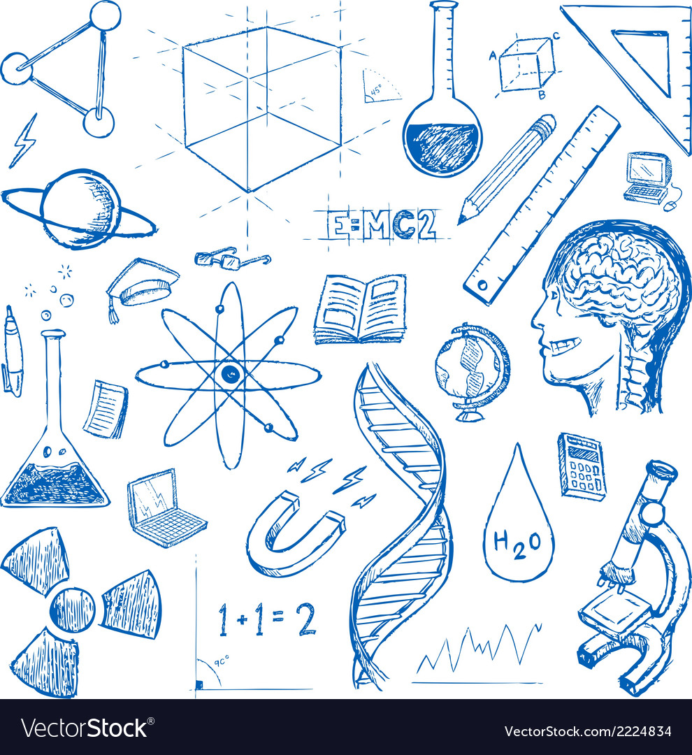 Sciences doodles icons set vector | Price: 1 Credit (USD $1)