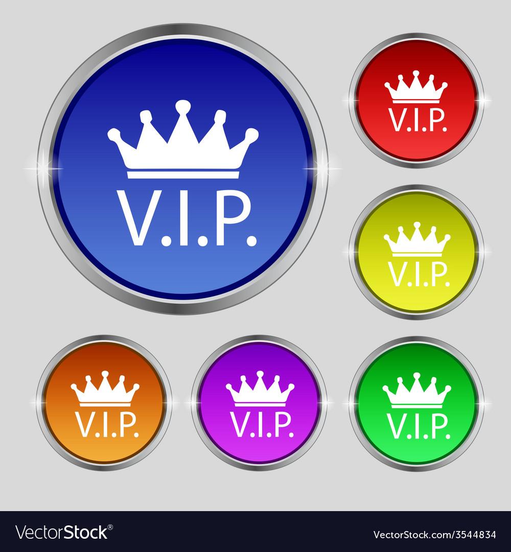 Vip sign icon membership symbol very important vector | Price: 1 Credit (USD $1)