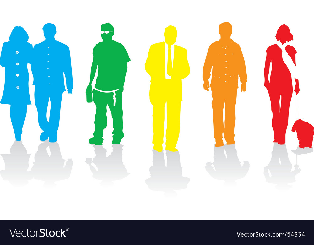 Walkers rainbow vector | Price: 1 Credit (USD $1)