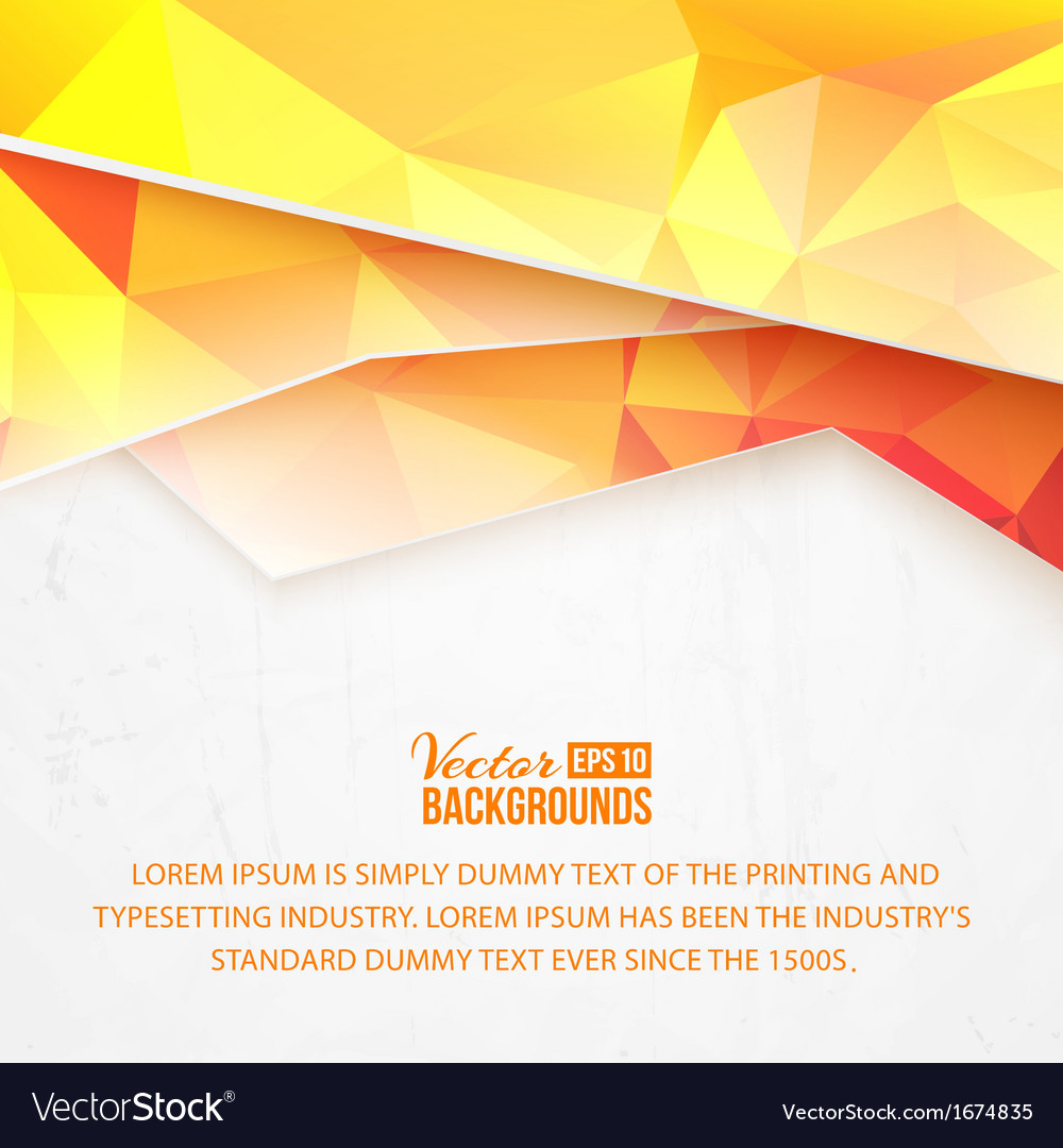 Background of orange waves and triangles vector | Price: 1 Credit (USD $1)