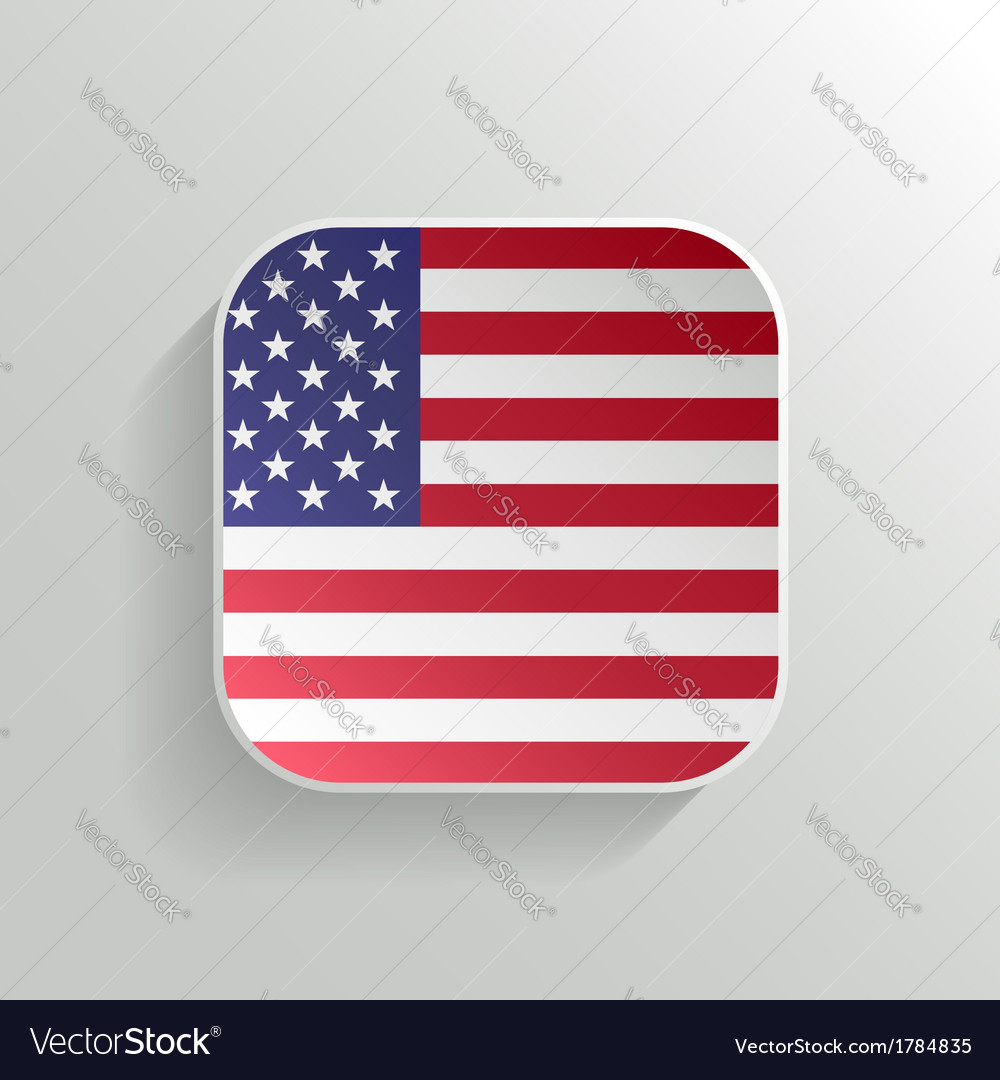 Button - united states of america flag icon vector | Price: 1 Credit (USD $1)