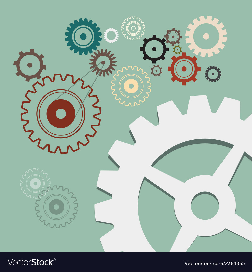 Cogs - gears retro vector | Price: 1 Credit (USD $1)
