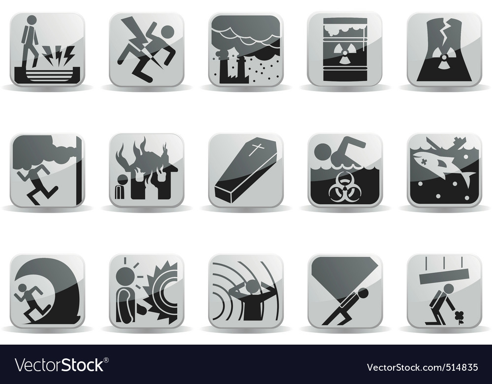 Disaster icons vector