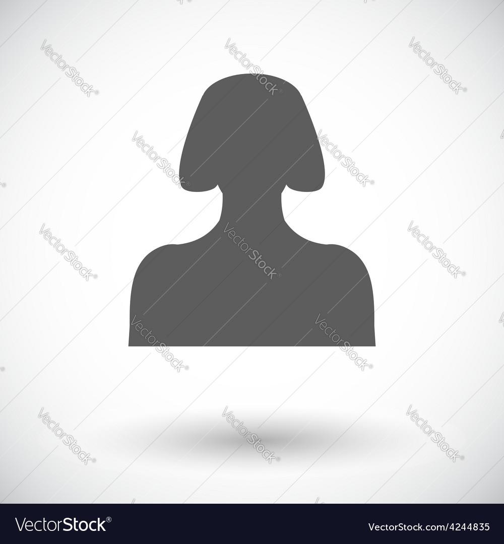 Female avatar flat single icon vector   Price: 1 Credit (USD $1)