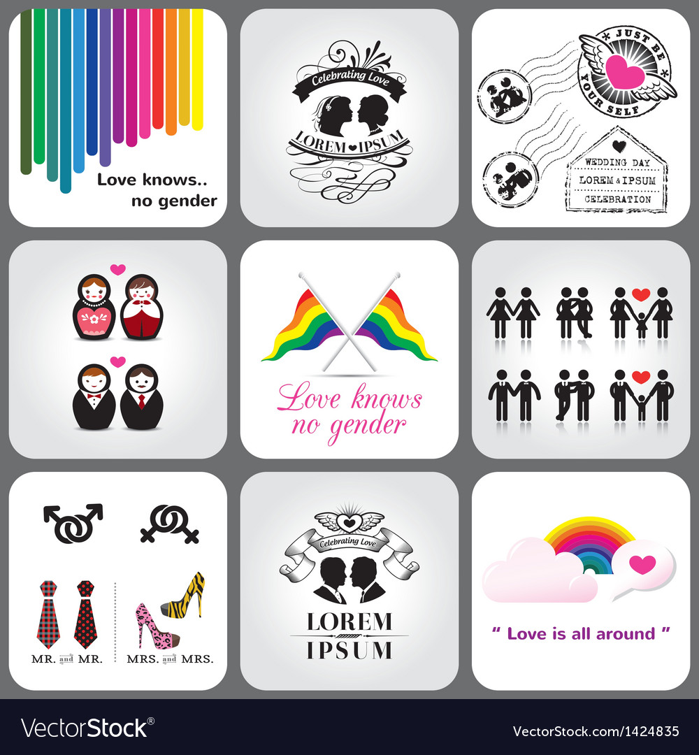 Gay and lesbian icon and design element vector | Price: 3 Credit (USD $3)