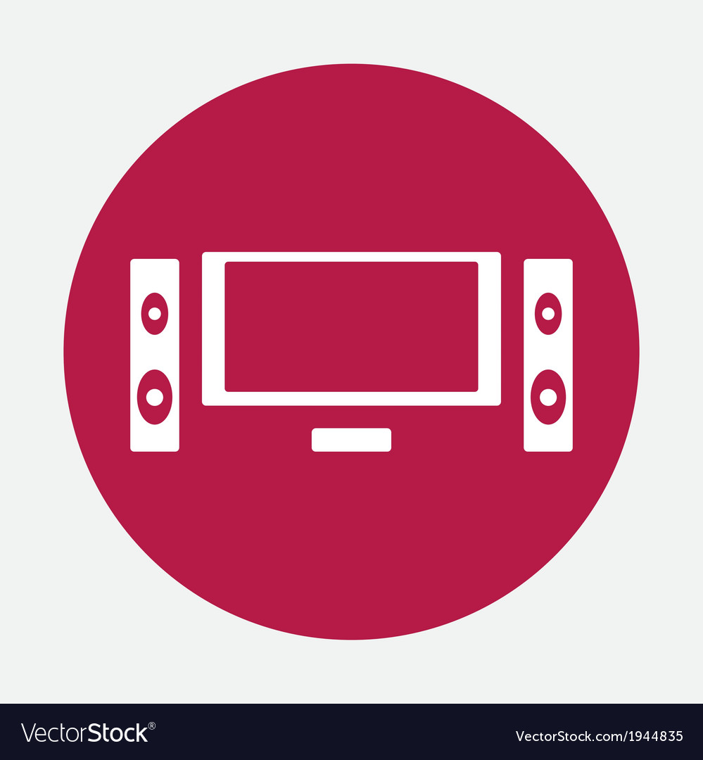 Home theater icon vector | Price: 1 Credit (USD $1)