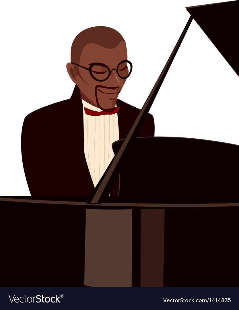 Man playing piano vector | Price: 1 Credit (USD $1)