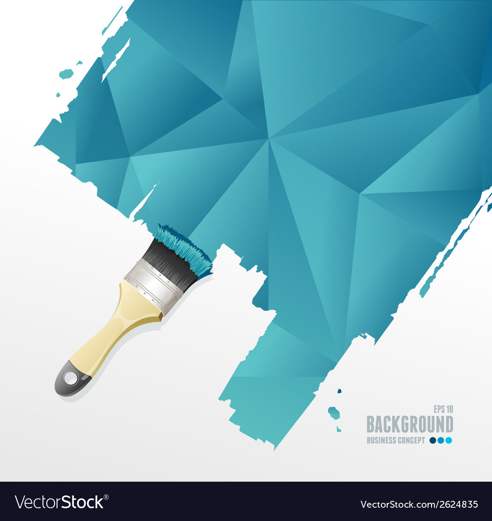 Paint brush and triangle background vector | Price: 1 Credit (USD $1)