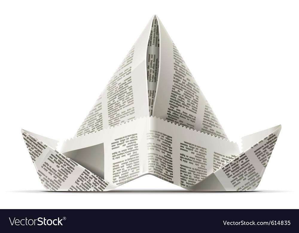 Paper cap as origami vector | Price: 1 Credit (USD $1)