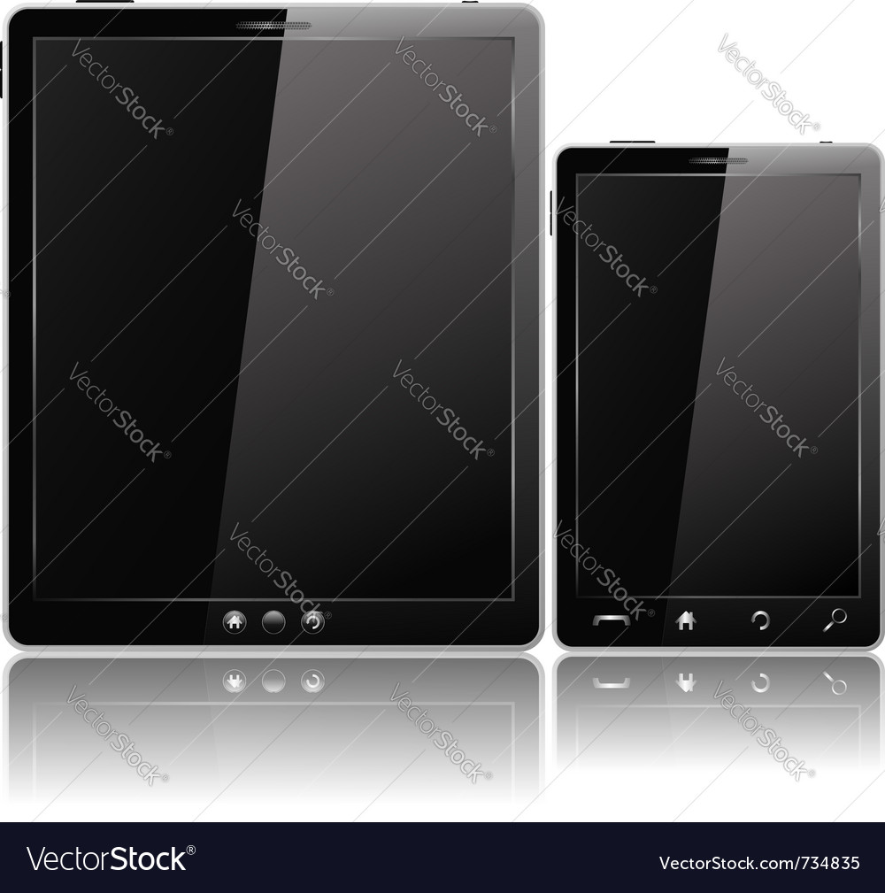 Tablet pc and mobile phone vector | Price: 1 Credit (USD $1)