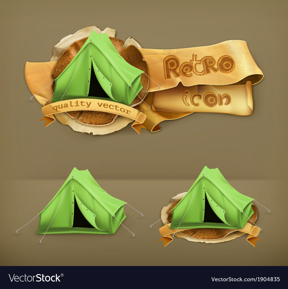 Tent icon vector | Price: 1 Credit (USD $1)