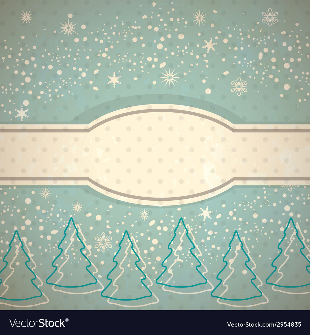 Vintage winter background vector | Price: 1 Credit (USD $1)