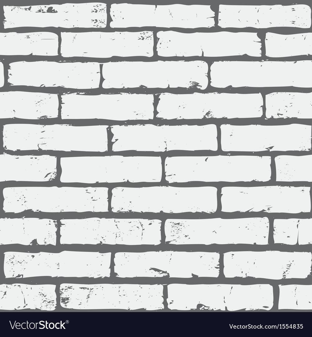 White seamless brick background vector