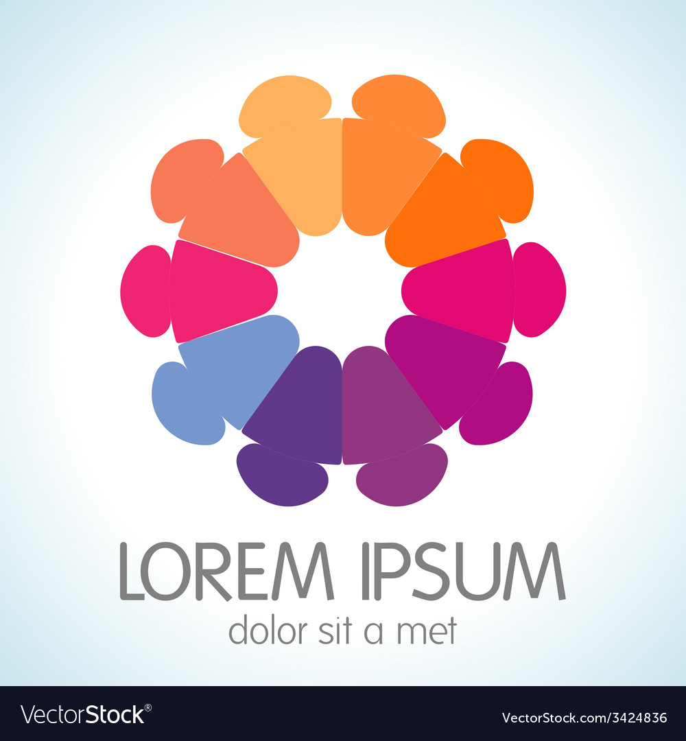 Abstract bright colorful communication logotype vector   Price: 1 Credit (USD $1)