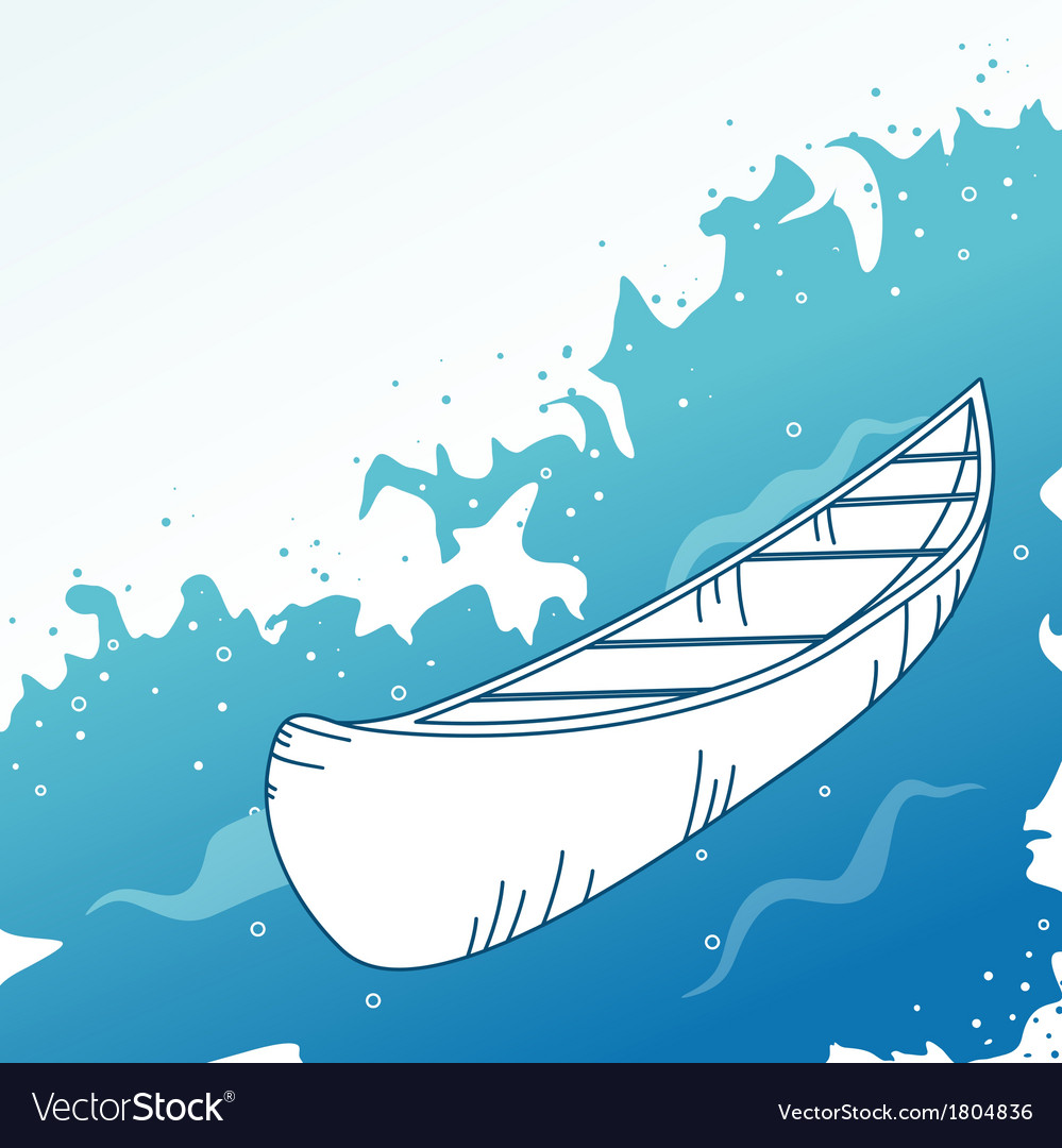 Background with boat vector | Price: 1 Credit (USD $1)