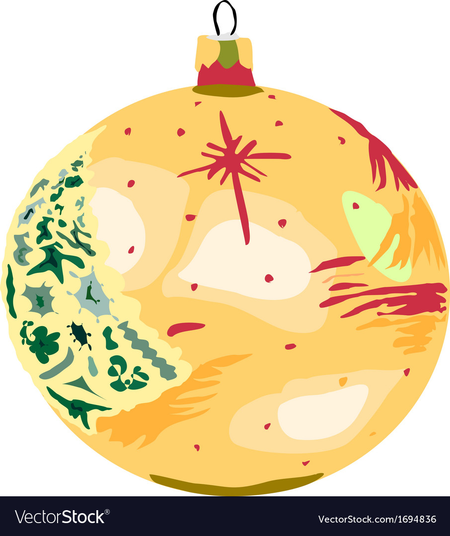 Bauble yellow vector   Price: 1 Credit (USD $1)