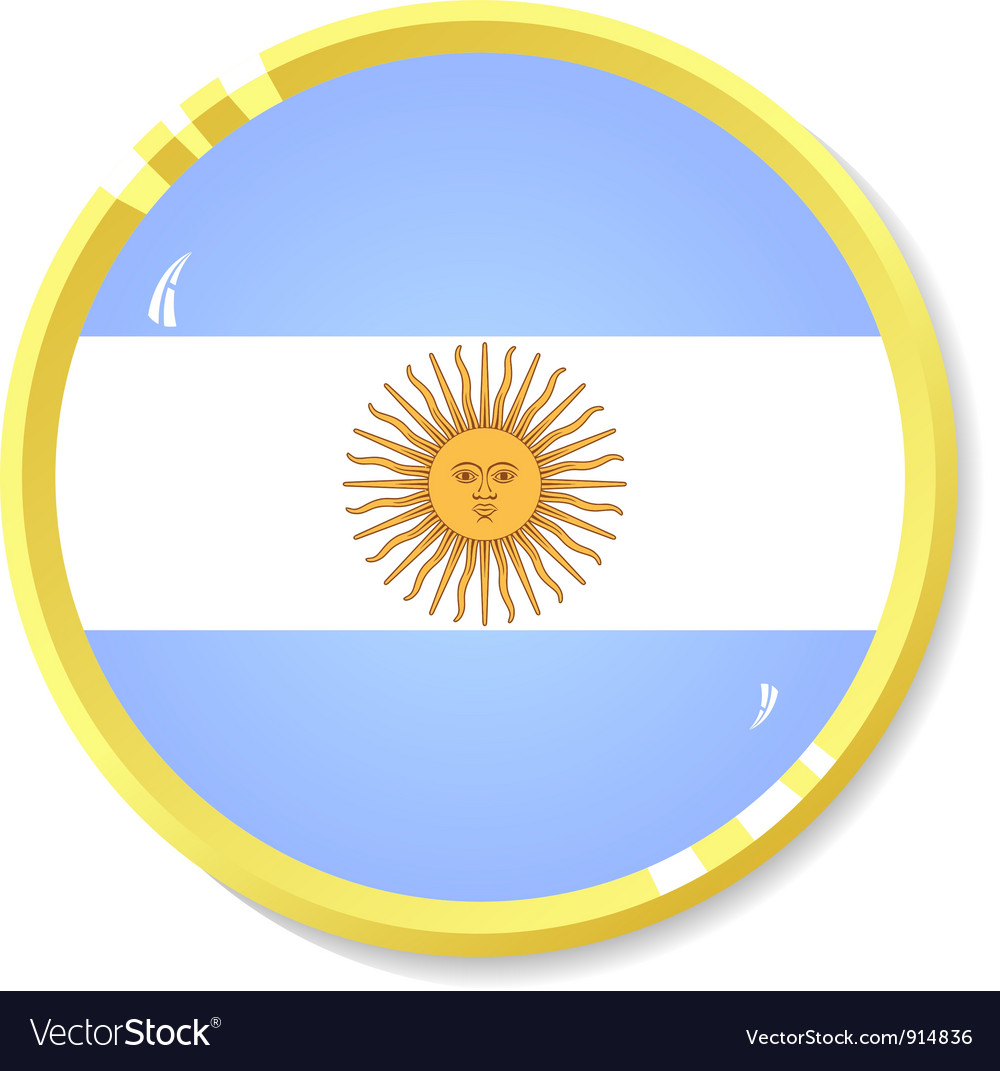 Button with flag argentina vector | Price: 1 Credit (USD $1)