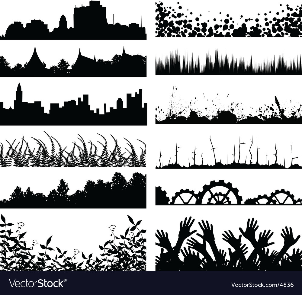 Foregrounds vector | Price: 1 Credit (USD $1)