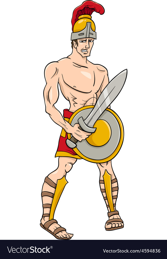 Greek god ares cartoon vector | Price: 1 Credit (USD $1)