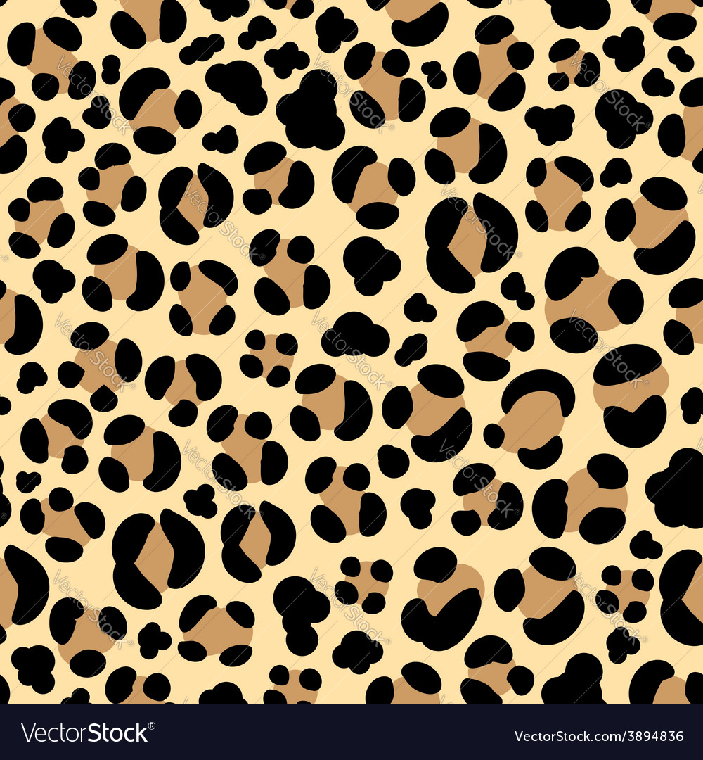 Leopard seamless background vector | Price: 1 Credit (USD $1)