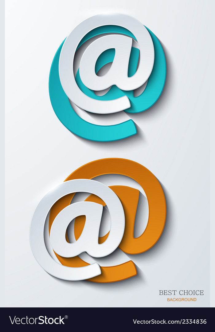 Modern email background vector | Price: 1 Credit (USD $1)