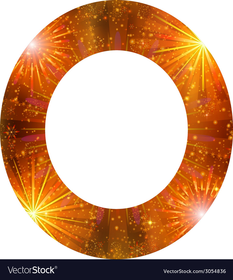 Number of orange firework zero vector | Price: 1 Credit (USD $1)