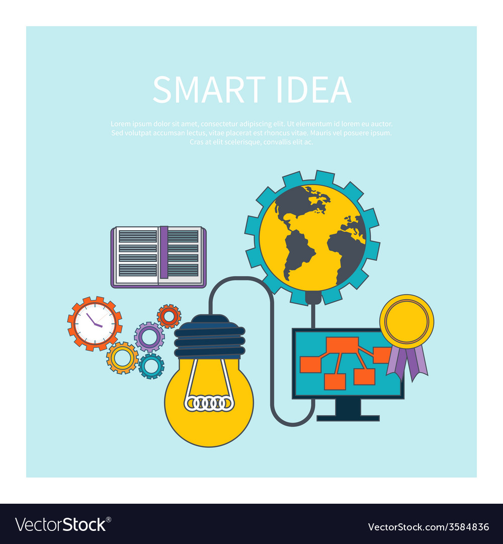 Smart idea concept vector | Price: 1 Credit (USD $1)