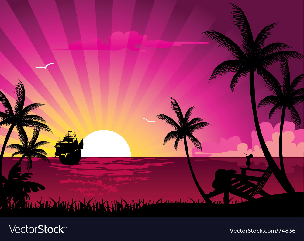 Sunrise vector | Price: 1 Credit (USD $1)