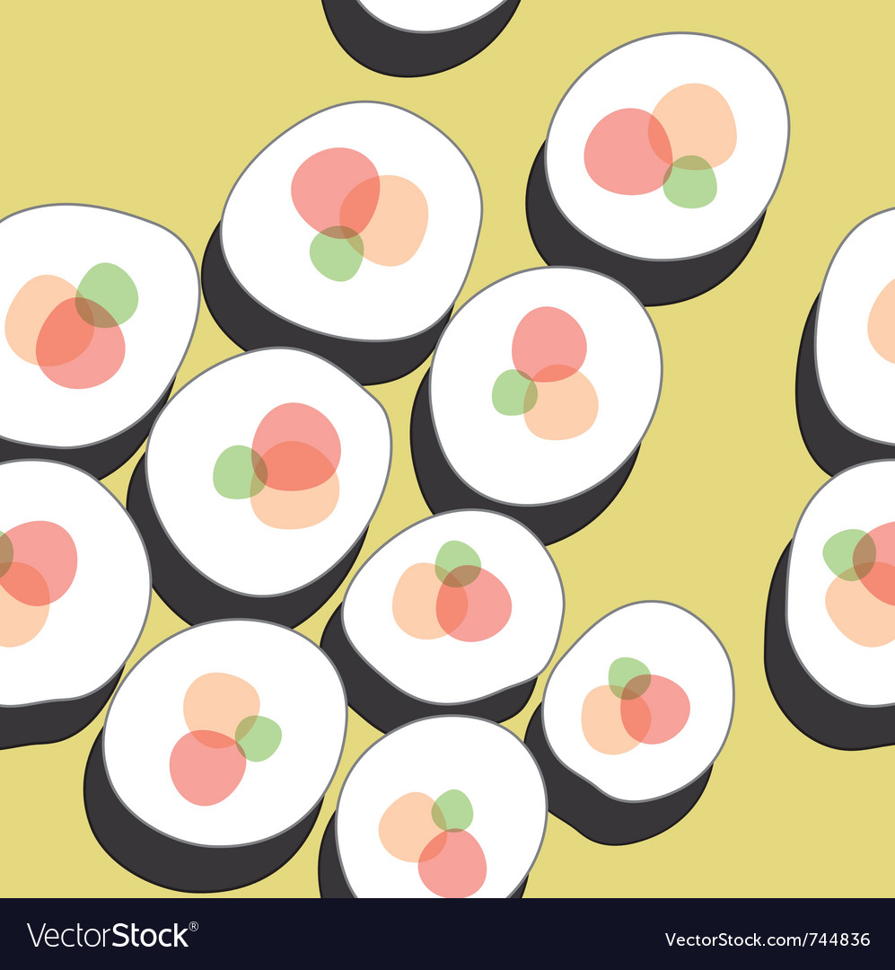 Sushi pattern vector | Price: 1 Credit (USD $1)