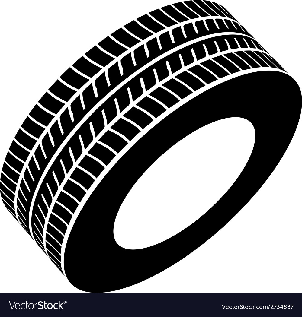 Black tyre symbol vector | Price: 1 Credit (USD $1)