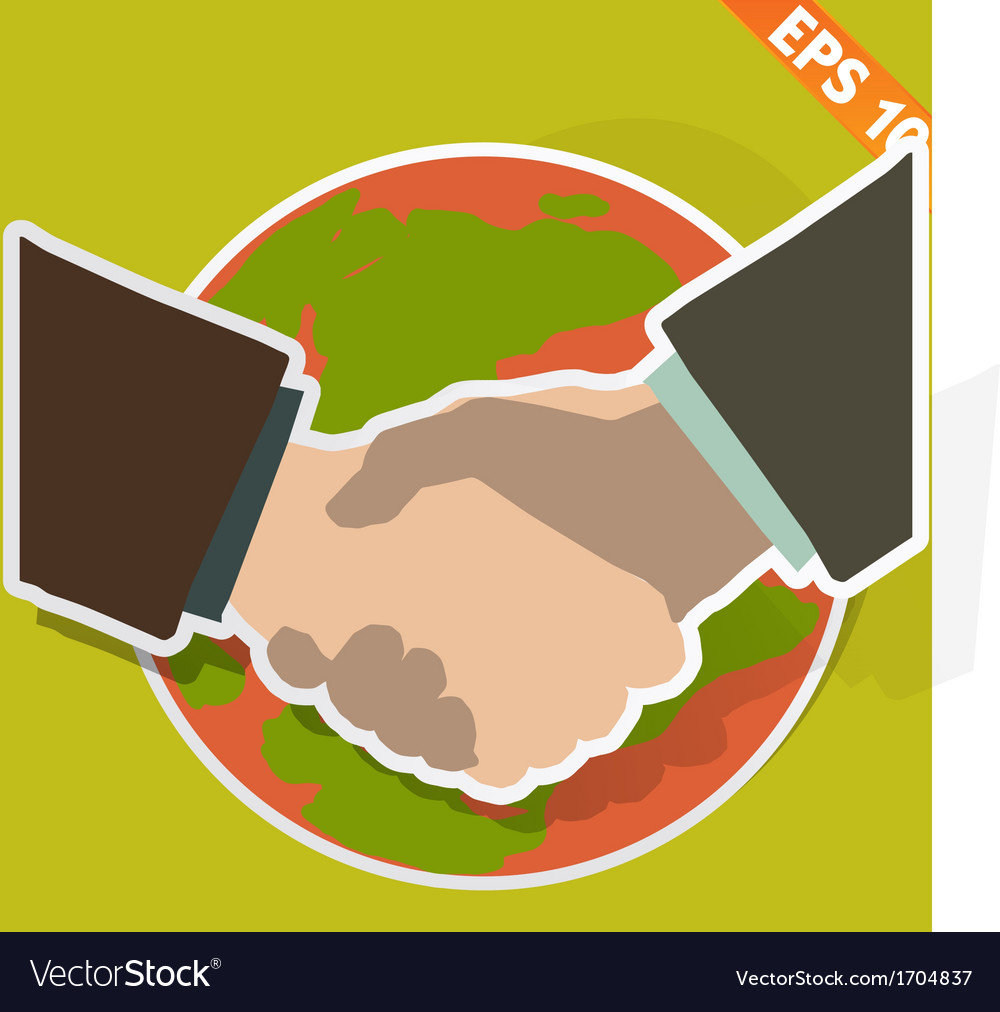 Hand shaking - - eps10 vector | Price: 1 Credit (USD $1)