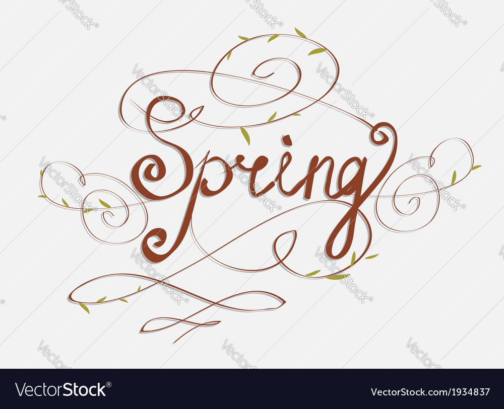 Handmade calligraphy spring vector | Price: 1 Credit (USD $1)